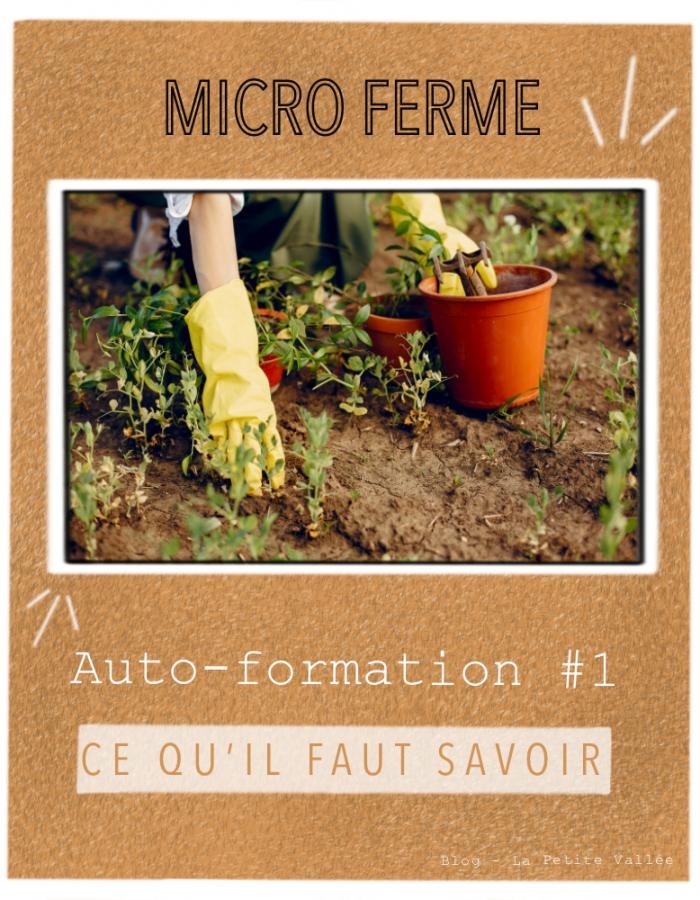 Autoformation agricole essentiel microferme