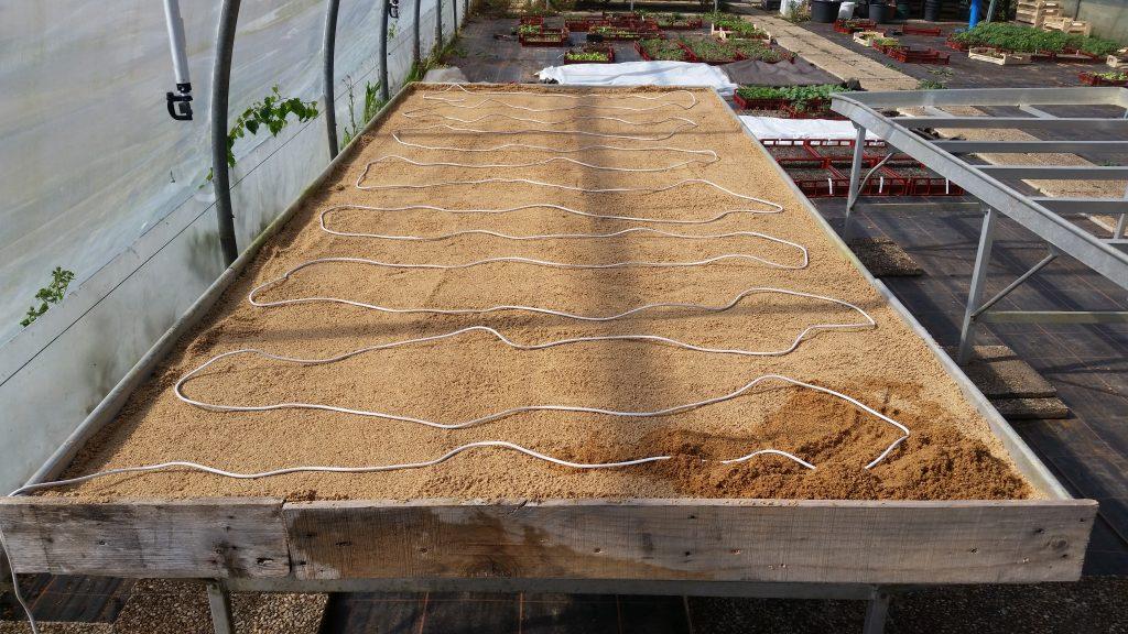câble chauffant résistance table semis autoconstruction fabrication câble résistance nappe